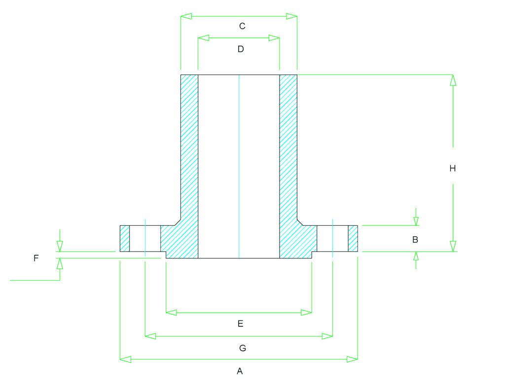 long weld neck flange dimensions 1024x791 - 長焊頸法蘭